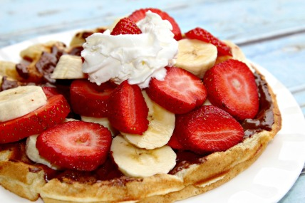 Nutella-Strawberry-and-Banana-Waffles